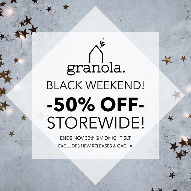 Granola. Black Weekend Sale!