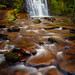 Ashworth Valley Waterfall, Rochdale, Greater Manchester, North West England
