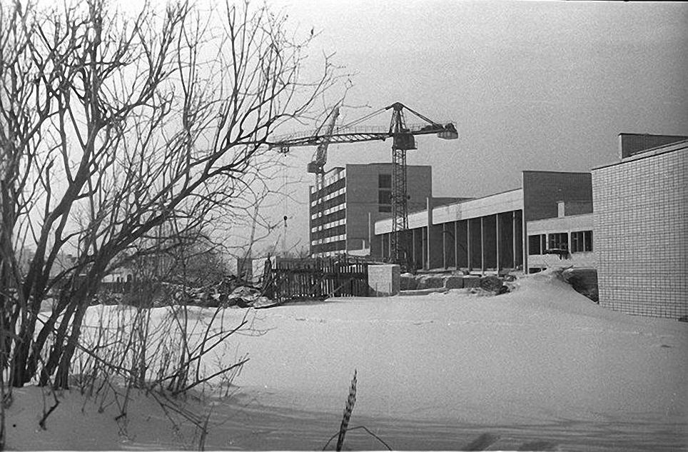 1960-е. Строительство новых корпусов Института физической культуры на Сиреневом бульвар