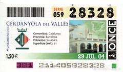 "Cupó ONCE ""Cerdanyola del Vallès"" (2004)"