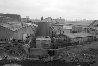 City Mill River, Marshgate Lane, from Greenway, Northern Outfall Sewer, Stratford Marsh, Newham, 1983 33x-32_2400
