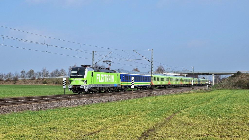 Railpool 193 827, vermietet an BTE, mit FLX 1803 Hamburg-Altona - Köln Hbf (Marl, NI, 21.03.19).