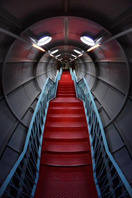 Belgium - Brussels - Atomium Stair 08_fisheye_ flipped_DSC0819