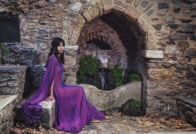 Fantasy: Irini's Forest Elf at the water spring, part II (by SpirosK photography)