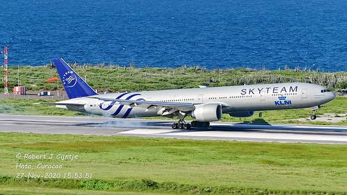 KLM, Boeing 777, PH-BVD, TNCC, 27-NOV-2020