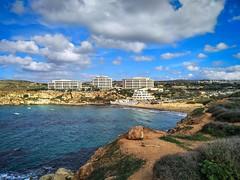 Golden Bay, Malta.