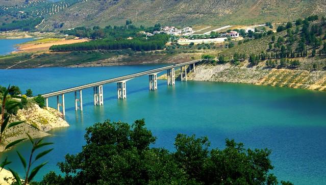 Puente sobre Iznájar!!!