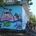 Art de rue sur la plage de L'Etang-Salé