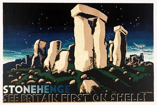 KAUFFER, Edward McKnight.  Stonehenge, See Britain First on Shell