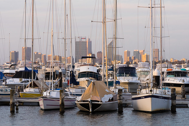 Boats and the city