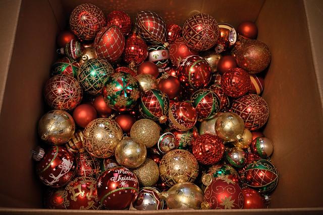 Box of Ornaments.