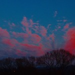 27. November 2020 - 16:15 - Clouds at sunset to the east!