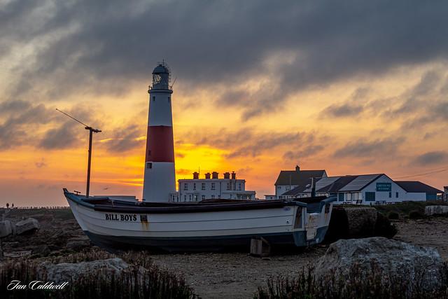 Portland Bill Lighthouse & Bill Boys Fishing Boat, Portland, Dorset