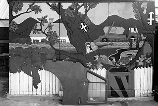 Mural, Wick Lane, Bow, Tower Hamlets, 1983 36o-31_2400