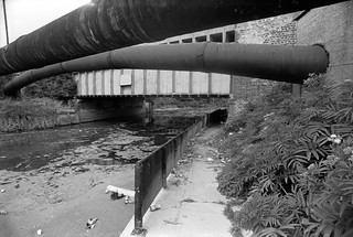 Northern Outfall Sewer, Lea Navigation, Stratford Marsh, Newham, 1983 36o-24_2400