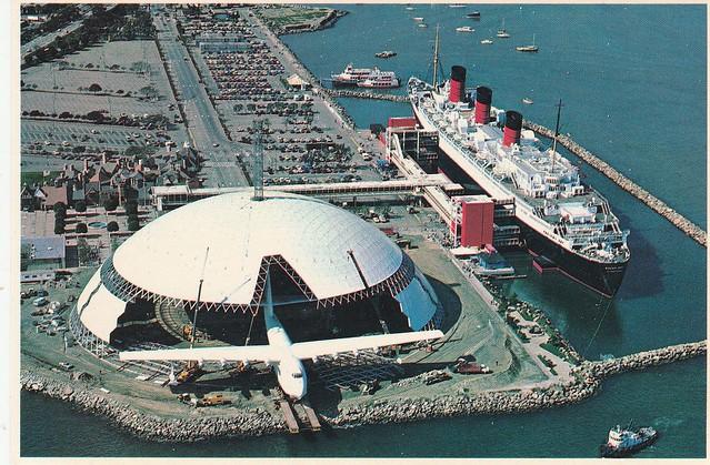 Queen Mary et Spruce Goose, Long Beach, Californie