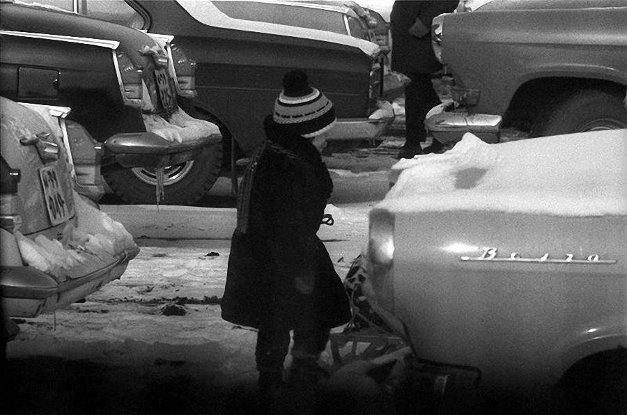1960-е. Юный автолюбитель. Кутузовский проспект