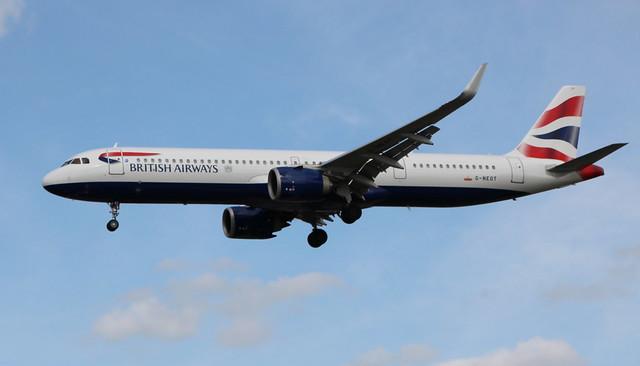 G-NEOT Airbus A321-251NXSL British Airways