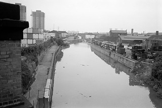 City Mill River, Stratford Marsh, Stratford, Newham, 1983 35v-25_2400