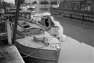 City Mill River, Stratford Marsh, Stratford, Newham, 1983 35v-15_2400
