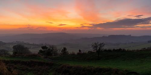 dorset pano sunset countryside landscape fields sony a7rii pilsdonpen