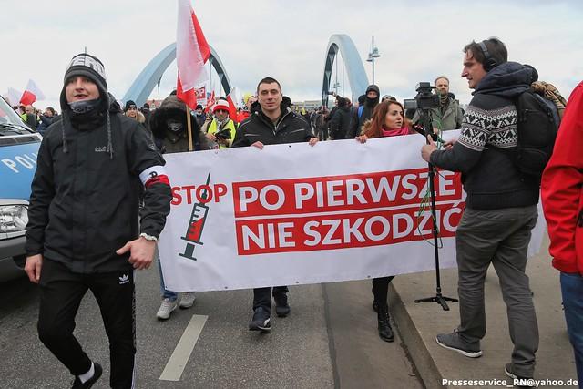 2020.11.28 Frankfurt Oder, Slubice - Querdenken und Protest (2)