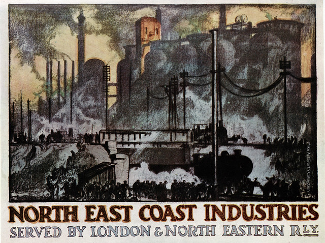North East Coast Industries - poster by Frank Brangwyn RA, issued by the London & North Eastern Railway, 1935