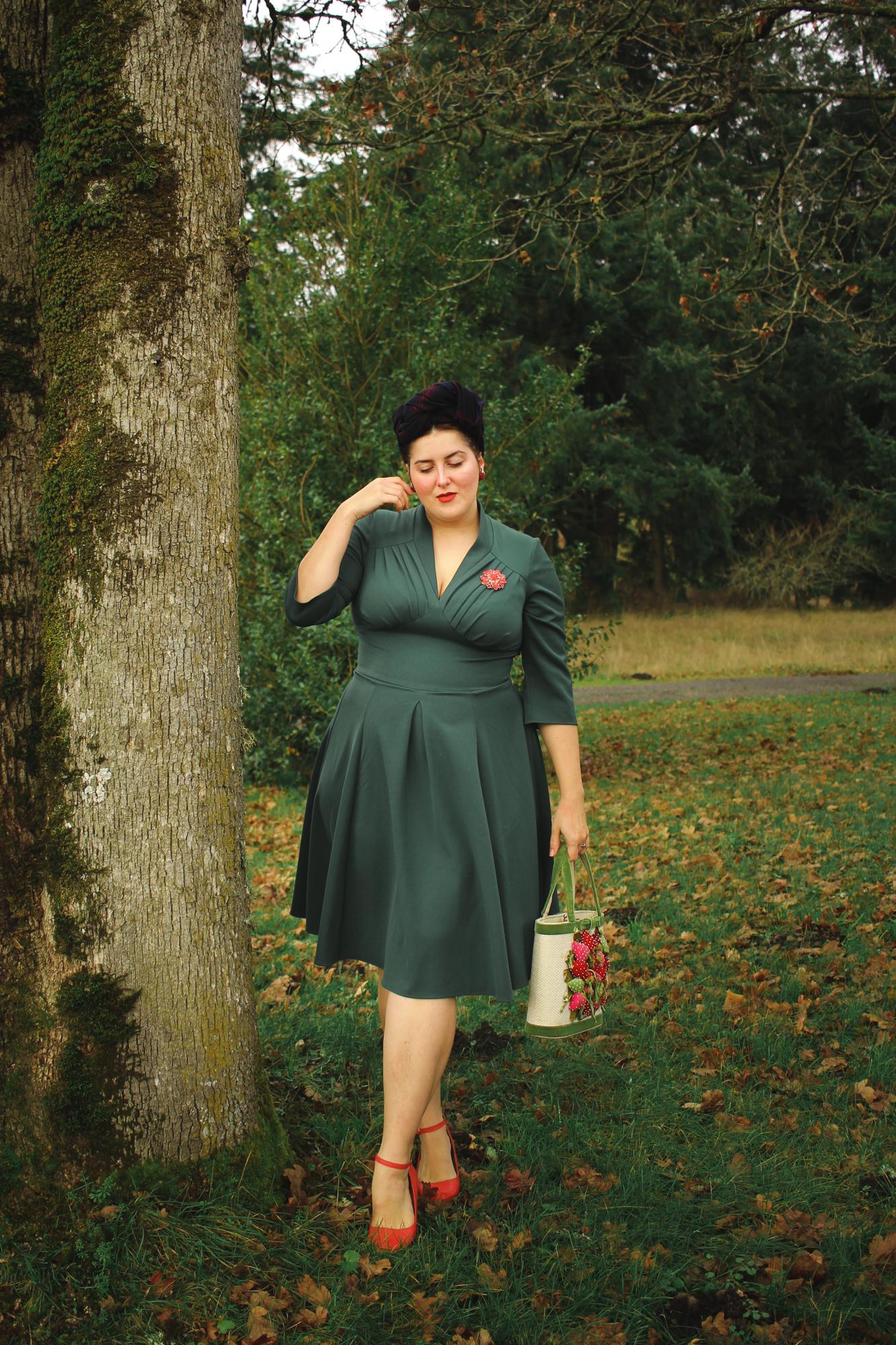 Miss Candyfloss green dress