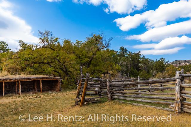 Corral and Barn at Caroline Lockhart Ranch in Bighorn Canyon