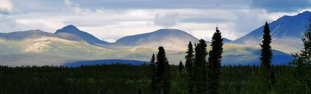 Mountain Vista off Robert Campbell Highway. Yukon Territory, Canada.