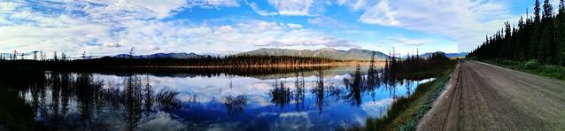 Little Salmon Lake on the Robert Campbell Highway. Yukon Territory, Canada.