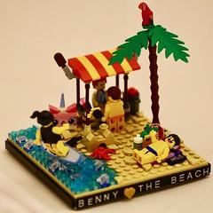 Benny loves the beach