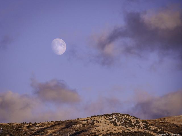 Moonrise over the Pocatello Range - Idaho