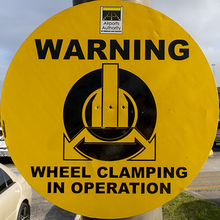 Warning Wheel Clamping in action