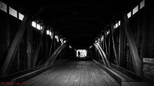 Inside Wertz's Covered Bridge