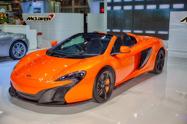 McLaren luxury sports car at a Thai Motor Show / Expo at IMPACT Challenger Hall in Muang Thong Thani near Bangkok, Thailand