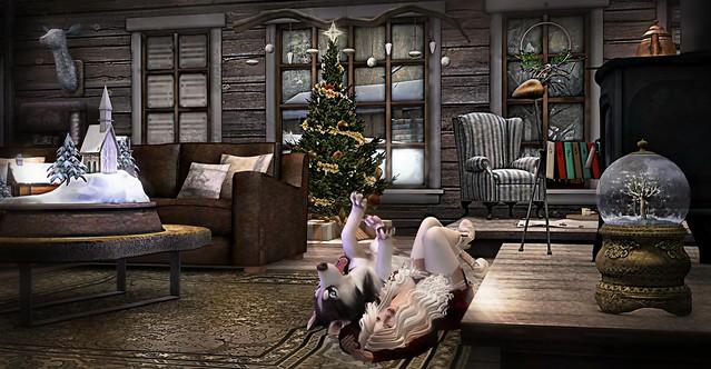 Sometimes ya need a little Doggy Cuddles...Barking Dog Jingle Bells...Music inspired Art...Teddiebear Spearsong