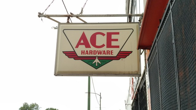Antique Ace Hardware Sign
