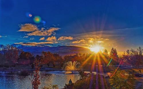 olympus sunrise landscape