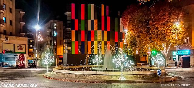 plaza del Oeste,luces Navidad