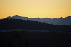 Sunset over Priddis