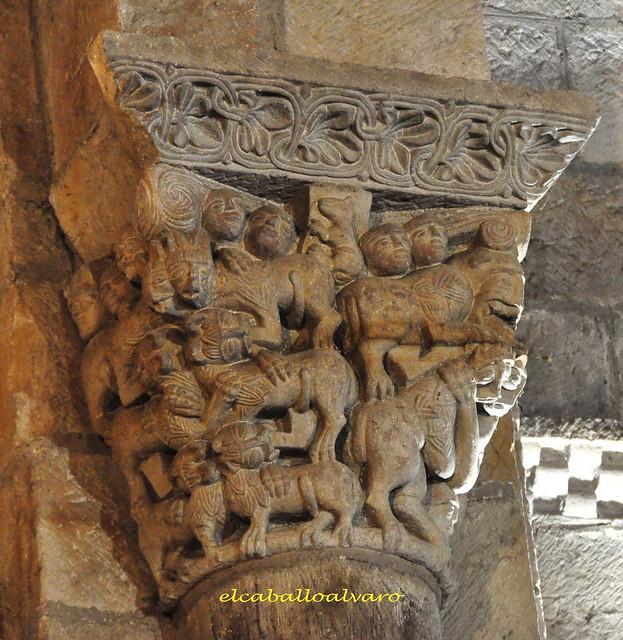 739 – Capitel Arco Triunfal – Colegiata San Pedro de Cervatos – Cantabria - Spain.