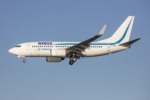 T7-WLA, Boeing 737-7K5 Wings of Lebanon @ Corfu CFU LGKR