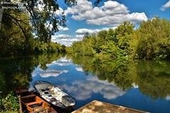 Karlovac, Croatia - Sunny day on river Korana...