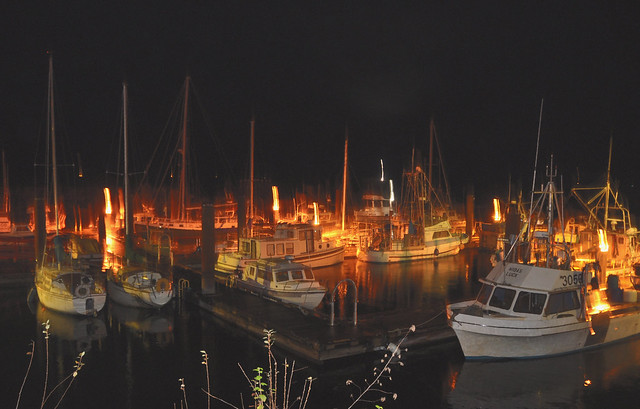Kelsey Bay Harbour at Night