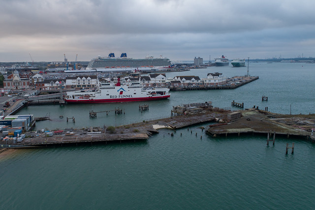 Southampton's cruise ship terminals.