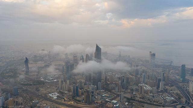 kuwait under the fog