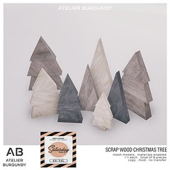Atelier Burgundy . Scrap Wood Christmas Tree TSS
