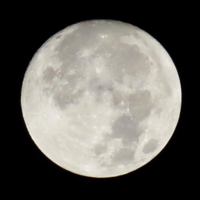 Waxing Gibbous Moon In California Smoky Haze