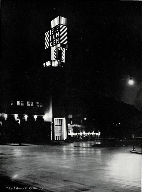 Telefunken advertising tower, Berlin, Germany, c1930